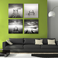Canvas Art Landscape Bridge to the Sea Set of 4