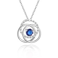 Cremation Jewelry 925 sterling silver Geometric Flower with Colorful Zircon Pendant Necklace for Women