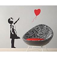 jiubai® Banksy Ballon gitl wallsticker wallstickers