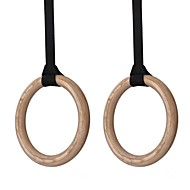 KYLIN SPORT™ Wooden Gymnastics Rings Protable Olympic Gymnastic Rings for Crossfit Gym Shoulder Strength