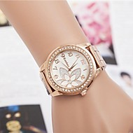 Women's Fashion Rhinestones Flower Steel Belt Quartz Wrist Watch(Assorted Colors) Cool Watches Unique Watches