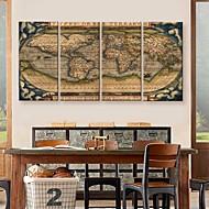 Reproducción en lienzo de arte del mapa del mundo del juego de la pintura decorativa de 4