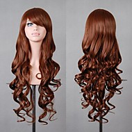 Fashion Style Female Brown Long Curly Hair Wig