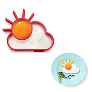 novidade sol Sunnyside ovo nuvem anel de silicone fritar ovo círculo omelete 13,8 x 11 x 2.4 cm