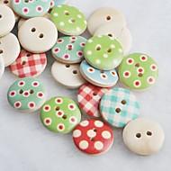 цвета рисунок записки scraft шитье DIY Деревянные кнопки (10 шт случайный цвет)