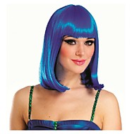 sininen Bobo tyyliin lyhyt cosplay puolue peruukki synteettinen hius