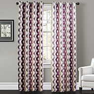 Philips Young - Two Panels  Contemporary Warm Colors Overlapping Lattice Curtains Drapes