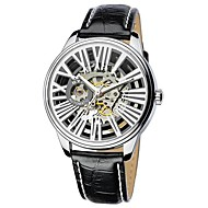 EYKI Men's Pierced Leather Strap Mechanical Watches(Assorted Colors)
