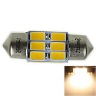 31MM(SV8.5-8)3W 6X5730SMD 180-220LM 3000-3500K Warm White Light LED Bulb for Car Reading  Lamp(AC12-16V)