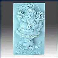 כלים לקישוט עוגת פונדנט קלאוס עוגת שוקולד סיליקון עובש המולד סנטה, l8.6cm * w5.6cm * h3.3cm