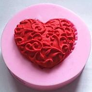 szív alakú fondant torta csokoládé szilikon penész torta dekoráció eszközök, l4.8cm * w4.8cm * h1.2cm