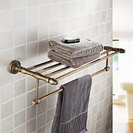 מדפי חדר אמבטיה, חומר פליז גימור פליז עתיק, לאבזרי אמבטיה