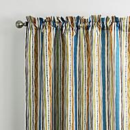 philips jeune - (deux panneaux) contemporaine multi color minimaliste striola rideau