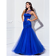 TS Couture Prom Formal Evening Military Ball Dress - Celebrity Style Vintage Inspired See Through Trumpet / Mermaid One Shoulder