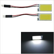 Carking™ T10 / BA9S / Festoon 28mm~40mm 3W 21-COB LED White Car Interior Dome Light(2PCS)