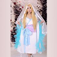 Inspirerad av Inu x Boku SS Nobara Yukinokouji anime Cosplay dräkter cosplay Suits / Kimono Lappverk Blå Lång ärmKimono Kappa /