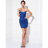 Homecoming Cocktail Party/Prom Dress Plus Sizes Sheath/Column Sweetheart Short/Mini Stretch Satin