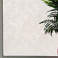 país gracioso whitw folhas de bambu filme janela - 0,5 × 5 m (1,64 × 16,4 pés)
