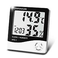 Digital Haushalt Temperatur Feuchtigkeitsmesser mit Kalenderzeit Weckfunktion Boyang htc-1