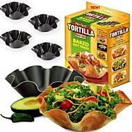 NEW 4Pcs/Lot Perfect Tortilla  Salad Baking Mould Baking Tray Bowl