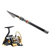3.6 Carbon Sea Fishing Medium Fishing Rod & Reel Combos Fishing Reel YB5000 Spinning Fishing Reels