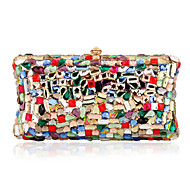 Handbags Shinning Colorful Crystal Clutches