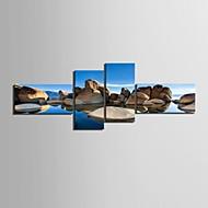 e-home® lona esticada arte paisagem pedra set pintura decorativa de 4