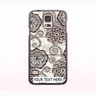 gepersonaliseerde telefoon case - retro bloem design metalen behuizing voor Samsung Galaxy S5 mini