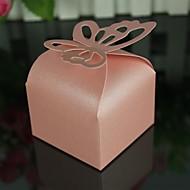 12 Stück / Set zugunsten Halter - Quader Perlenpapier Bevorzugungskästen Schmetterling