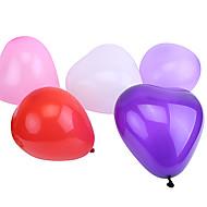 extra grote maat pearlized hartvormige ballonnen (kan kiezen kleur, 50 stuks)