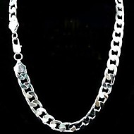 12mm 24 Inch No Empty Men's Silver Plated Necklace