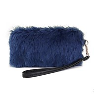 Leatherette Wedding / Special Occasion Clutches / Evening Handbags with Fur (More Colors)