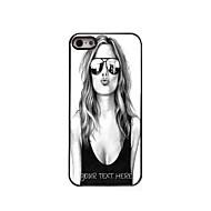 gepersonaliseerde telefoon geval - mooi meisje ontwerp metalen behuizing voor de iPhone 5 / 5s