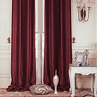 twopages® dois painéis moderno vermelho poupança de energia sólida cortina cortina