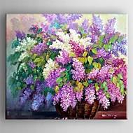 peinture à l'huile fleur moderne main toile peinte avec étiré encadrée