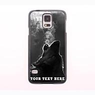 gepersonaliseerde telefoon geval - de wolf blaast rook ontwerp metalen behuizing voor Samsung Galaxy S5 mini