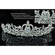 合金とクリアラインストーンジルコンと花嫁の結婚式のウエディングフラワーティアラ王冠