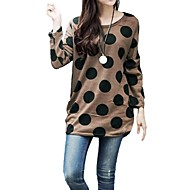 Women's Polka Dot Knitted Long Slouchy T-shirt