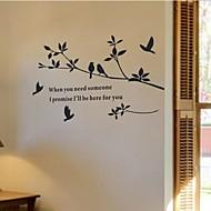 decalques de parede adesivos de parede, decoração para casa murais de pássaros adesivos de parede