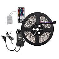 5m 300x5050 SMD rgb ha condotto la luce della striscia e il telecomando 44key e ci 6A alimentazione (AC110-240V)