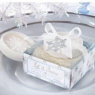 vakantie geschenken kerst sneeuwvlok vorm zeep (willekeurige kleur)