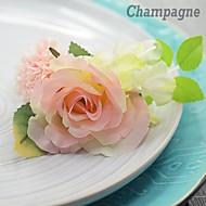 Rose Hydrangea  Silk  Wedding Boutonniere  (More Colors)