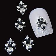 10шт 3d черный горный хрусталь алмазный цветок DIY аксессуары сплава ногтей украшения