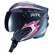 étoile noire unisexe&abs rouge plein visage de ski / snowboard casque avec des lunettes de neige