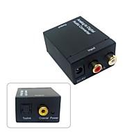 Analog L/R to Digital SPDIF Coaxial Coax RCA & Optical Toslink Audio Converter