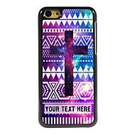 персонализированные телефон случае - фиолетовый металлический корпус крест дизайн для iPhone 5с