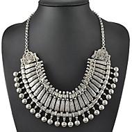 luksuriøse metallegering plating antikke sølv halskæde genoprette gamle måder