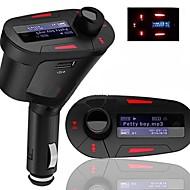 autosarja mp3-soitin FM-lähetin LCD-näytön taustavalo kaukosäädin usb sd mmc-korttipaikka