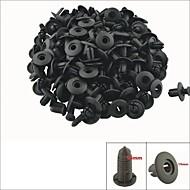 a0067 100 pcs panneau intérieur de la voiture clips de garniture de rivets de plastique noir