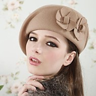 Women's High Quality Wool Double Flowers Beret